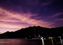 O nascer do sol na Polinesia Francesa